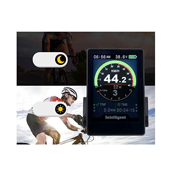 Electric Bikes PQZATX New 860C Electric Bicycle Speedometer Ebike Display for Bafang Series Mid Drive Motor Kit 3.5 Inch IPS Colorful Screen