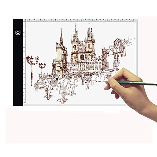 Fighrh Caja A4 LED Bosquejo Copia del álbum Fino estupendo de la Tercera Velocidad de atenuación de Dibujo Copiar Rastreo luz niños Tablero de Escritura Artistas Luz de Dibujo de animación de bocetos