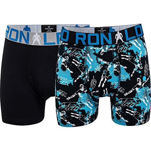 CR7 Cristiano Ronaldo Boys Boxershorts Jungen 2-Pack , Mehrfarbig (533), 134/140 (7-9 Jahre)