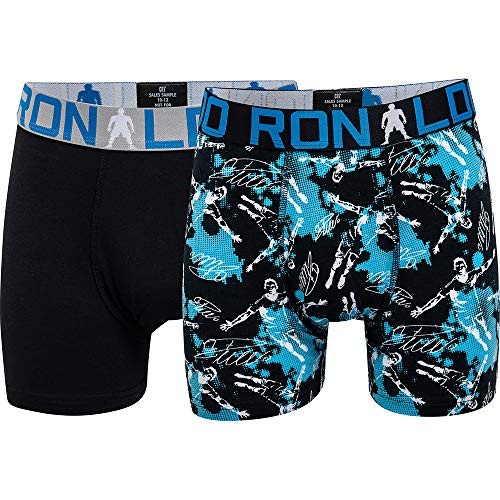 CR7 Cristiano Ronaldo Boys Boxershorts Jungen 2-Pack , Mehrfarbig (533), 146/152 (10-12 Jahre)