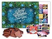 メリークリスマス、そして、あけましておめでとう、 ビッグチョコレートギフトセット、 1箱24枚入り、25x18cm, MERRY CHRISTMAS Big Box (Blue Toy)