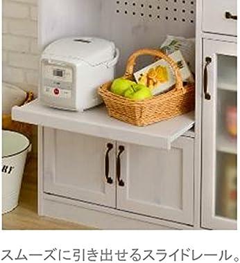 レンジ台 カップボード 食器棚 ホワイト キッチン家電収納 おしゃれ LUFFYレンジボード(ロータイプ90cm幅)sd4197152