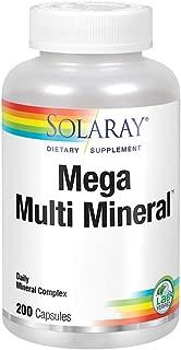 Solaray Mega Multi Mineral | 200 Capsules