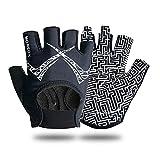 Fahrradhandschuhe, beste Workout-Handschuhe für Männer und Frauen, Hanteln, Kugelhanteln, Fahrrad, Battle Ropes und mehr (schwarz, klein)