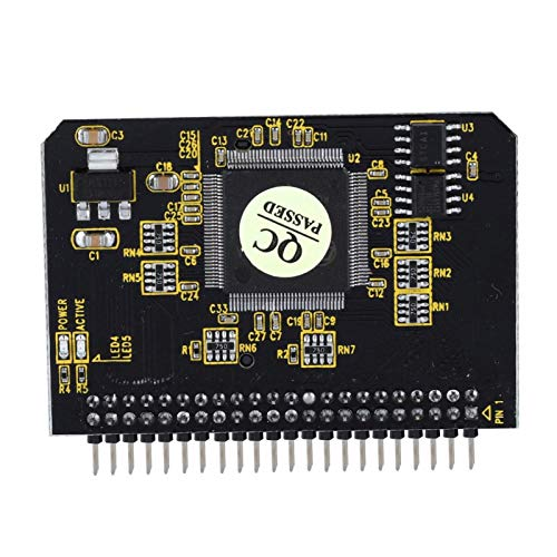 gostcai Adaptador SD a IDE, Adaptador Macho de 44 Pines, SD/SDHC/SDXC/MMC/TF/Micro SD, admite Tarjeta SD de 8-64 GB, admite Modo DMA y Ultra DMA para Dos / NT4 / WINDOWS98SE / ME / 2000 / XP/iOS.