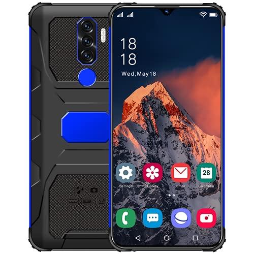 YouthRM Teléfono Desbloqueado,teléfono Inteligente 4G Desbloqueado N1,Android 11, 4 GB de RAM + 64 GB de ROM, 128 GB Extensible con Tarjeta TF, (proporcione una Tarjeta de Memoria de 128G),Blue