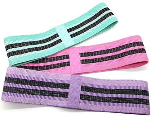 Banda de resistencia, 3 bandas de resistencia de tela para piernas y glúteos, bandas de ejercicio de bucle Bandas de entrenamiento de botín Bandas sentadillas elásticas antideslizantes Niveles