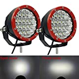 60W Round Led Driving Light 12V 5inch Mini Spot Led Driving Lights for Truck Jeep Wrangler JK 4X4 4WD Pickup Motorcycles Offroad Light Bar Car Off-road Ford F150 SUV Led Pods(Pack of 2 pieces)
