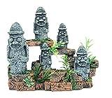 Aquarium Dekoration Landschaftsbau Osterinsel Moai Statue für Reptilienbox (Size : A)