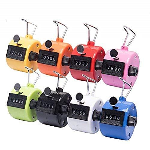 Tebery 8 Stück Handzähler Counter Klicker Schrittzähler - Mechanischer Mengenzähler ohne Batteriebetr