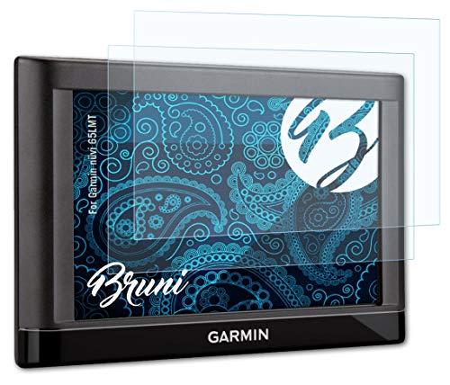 Bruni Schutzfolie kompatibel mit Garmin nüvi 65LMT Folie, glasklare Displayschutzfolie (2X)