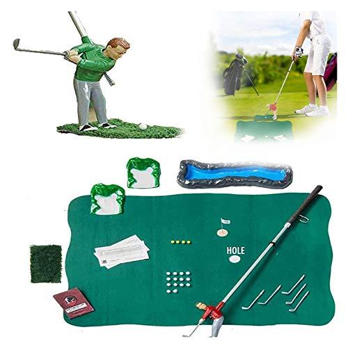 GFITNHSKI Juegos de Mini Golf para Puertos de Golf, Juego de Juguetes de Club de Golf, Conjunto de Mini Golf, Juegos interactivos para Padres y niños portátiles Interiores y Exteriores