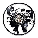 xcvbxcvb Disco de Vinilo Retro Reloj de Pared diseño Moderno decoración niños Dormitorio Juego Reloj Reloj de Pared decoración del hogar