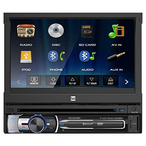 """Dual Electronics XDVD176BT 7"""" LED Backlit Touchscreen LCD Single DIN Car Stereo"""
