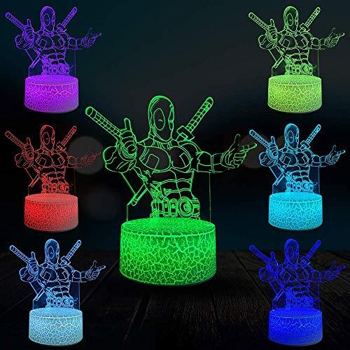Ultimative3D-Lampe Multicolor Creative Home Store Dekoration Nachtlicht Led Usb Desk Corps Waffen X Spideypool