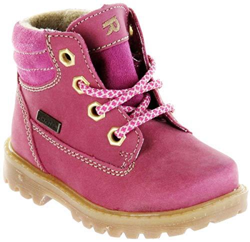 Richter Kinder Lauflerner-Stiefel Sympatex Warm Nubukleder pink Mädchen 1222-441-3501 Fuchsia Pragon, Farbe:pink, Größe:26 EU