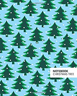 Christmas Tree Notebook: (Powder Blue) Fun notebook 192 ruled/lined pages (8x10 inches / 20.3x25.4 cm / Large Jotter)