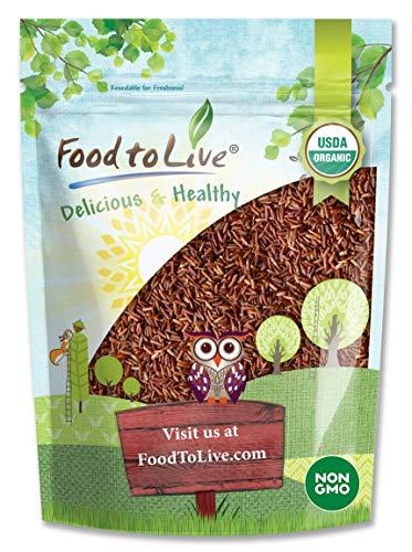 Organic Red Rice, 1 Pound - Non-GMO, Kosher, Vegan, Raw, Bulk