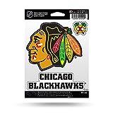 NHL Rico Industries  Die Cut 3-Piece Triple Spirit Sticker Sheet, Chicago Blackhawks