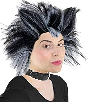 Cats Musical Wig White and Black Cat Costume Wig for Men and Women Cat Costume Wig for Musicals  Black and White