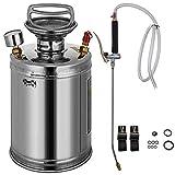 BuoQua 4L Stainless Steel Sprayer 1Gallon Steel Hand-Pump Sprayer with 3.3-inch Reinforced Hose Pressure...