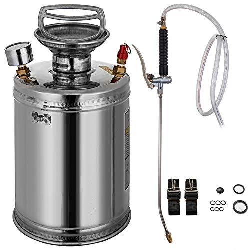 BuoQua 4L Stainless Steel Sprayer 1Gallon Steel Hand-Pump Sprayer with...