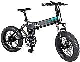 YPLDM Bicicletas eléctricas Plegables Adultas Confort Bicycles Hybrid Hybrid Recumbent/Road Bikes20 Pulgadas, 11.6Ah Batería de Litio, aleación de Aluminio,Negro