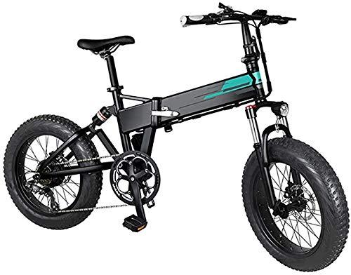 YPLDM Adult Folding Electric Bikes Comfort Bicycles Hybrid Recumbent/Road Bikes20 inch,11.6Ah Lithium Battery, Aluminium Alloy,Black