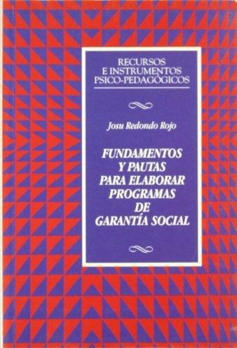Fundamentos y pautas para elaborar programas de garantía social