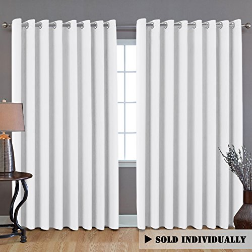 H.VERSAILTEX White Curtains for Living Room 84 Inches Length, Room Divider Curtains for Bedroom, Thermal Insulated Patio Door Curtain Panel, Extra Wide Sliding Door Curtains, 8.5ft Wide x 7ft Long