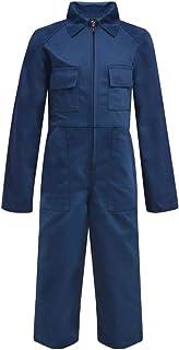 Mono Infantil Niños con Bolsillos/Cremalleras Color Azul/Gris