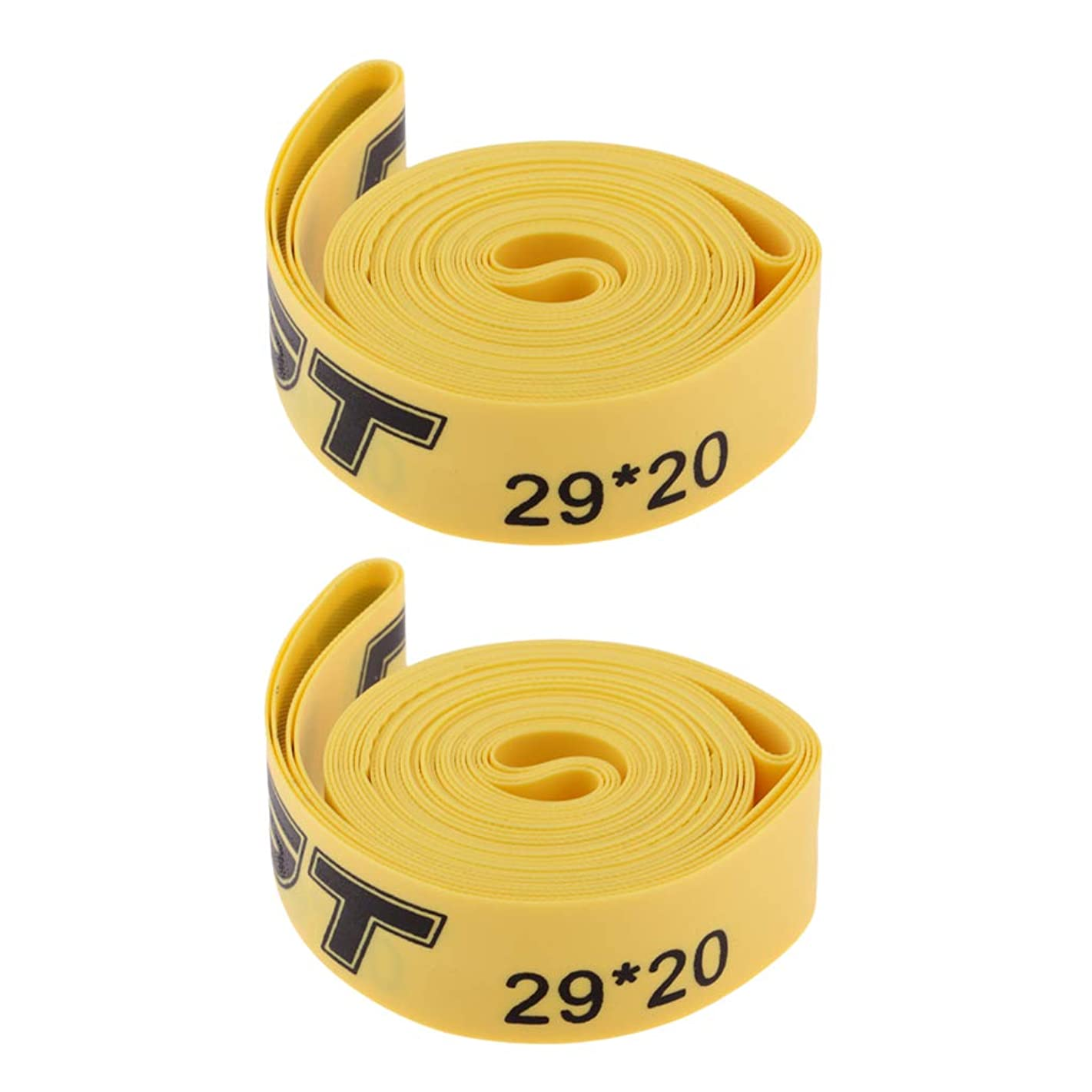 DYNWAVE Pack of 2, Mountain Bike Tire Liner/Road Bicycle Tire Protector - Anti-Puncture - Compatible with 26/27.5/29 inch or 700c Cycle - Yellow
