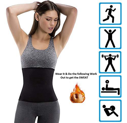 ADA Hot Body Slim Shaper Slimming Belt - ADA Tummy Trimmer Neotex Belt Sauna Women Men Waist Trainer Trimmer Belt Fat Burner Ab Cincher for Workout Weight Loss (Unisex) - (XL Waist Size 29-30) Inches