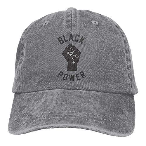 Jopath Black Power Fist - Gorro de béisbol ajustable, unisex, lavable, de algodón, para papá