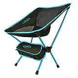 G4Free アウトドアチェア 軽量 ウルトラライト 折りたたみ チェア 耐荷重120kg 登山 釣り用 椅子 持ち運びに便利 (ブルー)