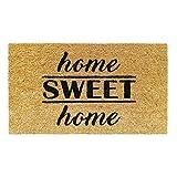 Banzaii Felpudo de Coco 40 x 70 cm Fijado a una Base de PVC Antideslizante – Home Sweet Home