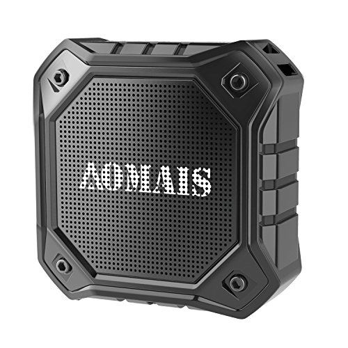 AOMAIS Ultra Portable Wireless Bluetooth Speakers with 8W Loud Sound, Waterproof IPX7 Shower Speaker,Stereo Pairing for Echo Dot, iPhone, iPod, Laptop(Black)