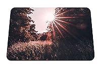 22cmx18cm マウスパッド (日光草原の光線) パターンカスタムの マウスパッド