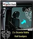 myrockshirt 2X SCANIAAufkleber Vabis Logo Seitenscheiben halb LKW Truck Aufkleber,Sticker,Decal,Autoaufkleber,UV&Waschanlagenfest,Profi-Qualität