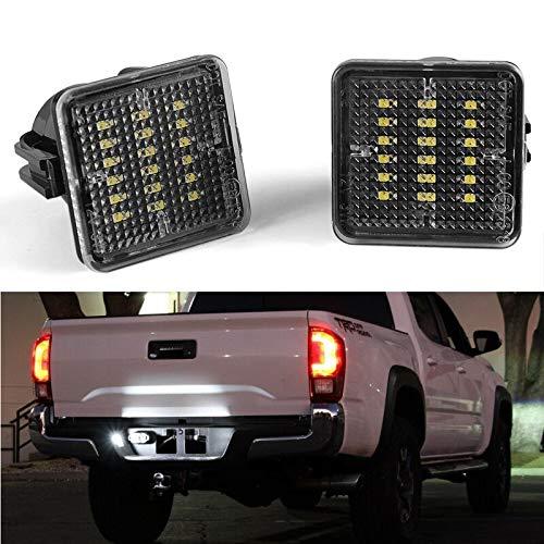 SUJIE Luces de matrícula de Coche Luz LED Licenciantil LED LED Número de Licencia Lámparas Lámparas Reemplazo de ensamblaje Compatible con Toyota Tundra 2014-2019 Tacoma 2016-2019 Impermeable