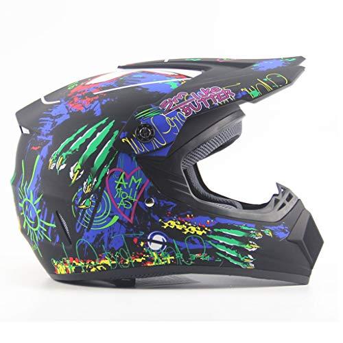 Yunyisujiao Helm, motocross, helm, persoonlijkheid, vier seizoenen, motorcross, helmen voor mannen en vrouwen, accu, auto