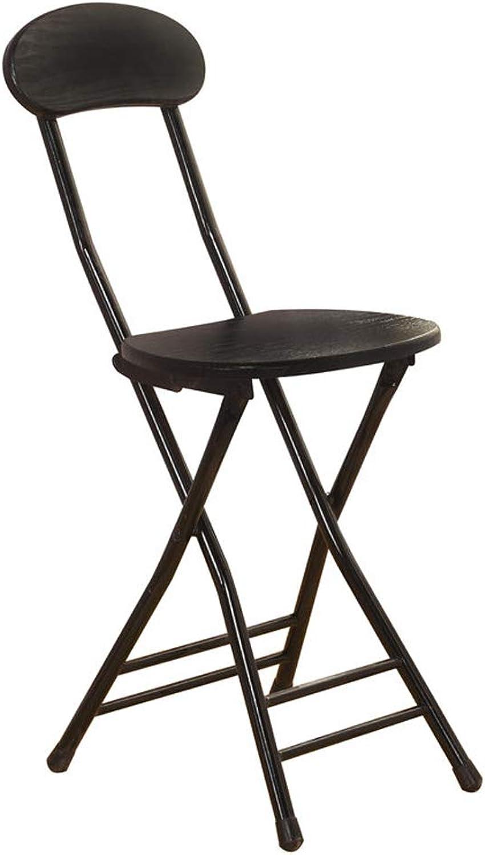 Round Folding Chair Household High Feet Portable Fishing Bar Stool Leisure Chair