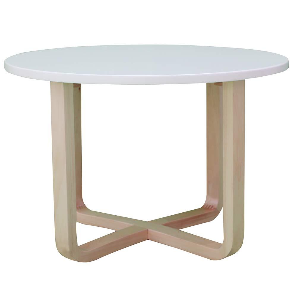Modern Lightweight Metal-Effect Furniture VonHaus Concrete-Look Round Coffee Table 80cm Diameter for Bedside//Hallway//Living Room