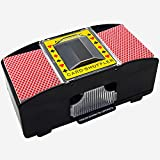 Vvciic Barajador de cartas, barajador automático de cartas de 2 barajas, funciona con pilas, máquina de barajar cartas de póquer, herramienta de juego de cartas (no incluidas)