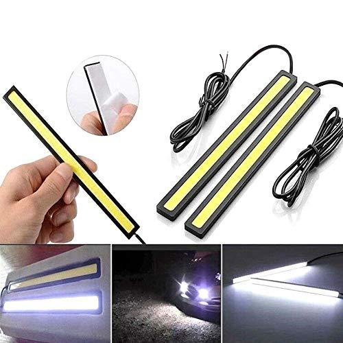 Vitihipsy 6 x 12 V per le auto luci di striscia diurna lampada super luminosa bianco impermeabile DRL COB striscia guida luce per camper barca auto