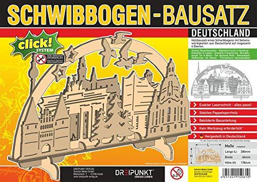Bausatz Schwibbogen 'Deutschland': Detaillierter Holz-Modellbausatz für einen traditionellen Schwibbogen.