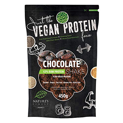 Bio Chocolate 63% Vegan Protein Shake 450g | 100% Plant Based Organic Protein Blend | Gluten-Free