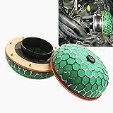 Filtro de combustible Modificado coche universal de aceite de seta de combustible del filtro de aceite filtro de elemento de filtro, adecuado for la mayoría Coches (Color : Green)