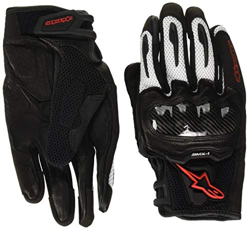 Alpinestars SMX-1 Air Mens Motorcycle Gloves - Black/White/Red - Large