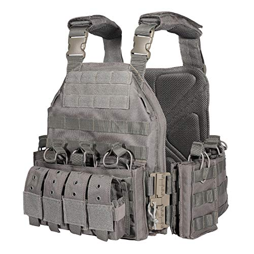 CAMO Outdoor Tactical Military Carrier Vest (ACU) (Black CP)